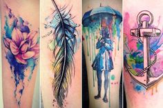 tatuagem aquarela - Pesquisa Google