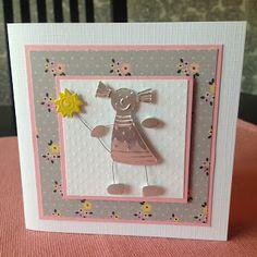 Randis hobbyverden: Bursdagskort i rosa