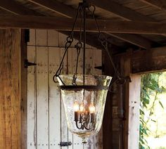 I can't even express how much I've wanted this chandelier for years.  It's not even available anymore- Spencer Lantern, 3-Arm, Iron finish (Pottery Barn)