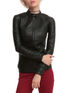 Joan Jett Tripp NYC Black Pleather Jacket