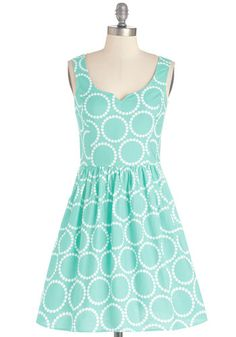 Air of Adorable Dress in Dotted Mint | Mod Retro Vintage Dresses | ModCloth.com