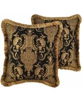 Sherry Kline China Art Black Decorative Throw Pillows Decorative Pillows (Set of - 20 x 20 (Polyester, Damask) Black Throw Pillows, Floral Throw Pillows, Toss Pillows, Throw Pillow Sets, Accent Pillows, Floral Throws, Pillow Arrangement, Support Pillows, China Art