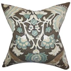 The Pillow Collection Kiriah Floral Bedding Sham Size: King