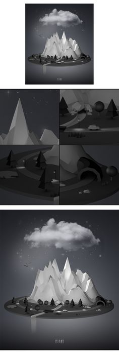 Island. this website has a lot of inspiring images.