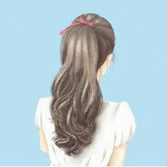 Photo by Ahlam on July Girly Drawings, Anime Girl Drawings, Anime Art Girl, Art Drawings Sketches Simple, Pretty Anime Girl, Beautiful Anime Girl, Cover Wattpad, Lovely Girl Image, Cute Girl Drawing