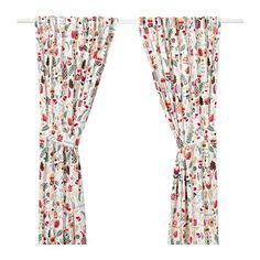 RÖDARV Curtains with tie-backs, 1 pair  - IKEA