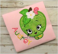 Summer Apple Blossom Girls Shirt- Lettuce Edge Cap Sleeve Toddler Girls Shirt- Girls Summer Apple Shirt - Personalization Available!