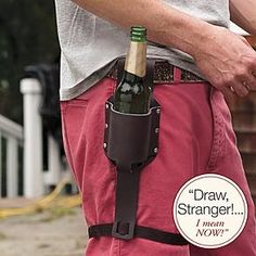 how funny is this? personalizable beer holster