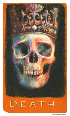 For the next stop on The Raven Cycle #TarotTour, the DEATH Tarot Card is revealed on SupernaturalSnark.Blogspot.com. Check it out for a tarot reading of the series and keep following to see all of Maggie Stiefvater's Tarot art! #BlueLily #TarotTour