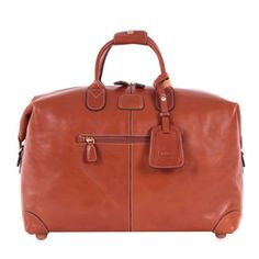 "Pelle+Cognac+18""+Cargo+Duffel+by+Bric\'s+at+Horchow."
