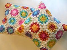 Set of 2   flower  Cushion cover   Sunburst by TheMagicCorner, $68.00