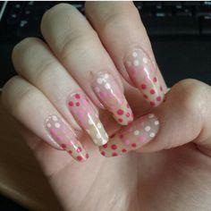#dots #nailart #nail #nails #pink