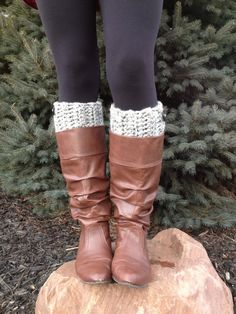 Womens Wool Crochet Boot Cuffs Womens Boot Toppers by KokoHats, $22.49 http://rover.ebay.com/rover/1/710-53481-19255-0/1?ff3=4&pub=5575067380&toolid=10001&campid=5337420448&customid=&mpre=http%3A%2F%2Fwww.ebay.co.uk%2Fsch%2Fi.html%3F_odkw%3Dwomens%2Bshoes%26_osacat%3D0%26_from%3DR40%26_trksid%3Dp2045573.m570.l1313.TR10.TRC0.A0.Xwomens%2Bboots%26_nkw%3Dwomens%2Bboots%26_sacat%3D0