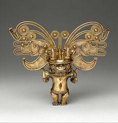 """Colombia: Figure Pendant (Gold) (10th–16th century) Tairona Culture. """