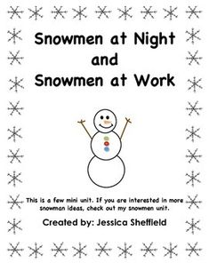snowmen at work writing activity for preschool