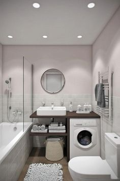 Looking for ideas to transform your small bathroom? Maximize your bathroom with these tips and ideas for your small bathroom spaces. Bathrooms are usually small spaces that are called upon to do many things. Bathroom With Tub Bathroom Design Small, Bathroom Layout, Bathroom Interior Design, Bathroom Ideas, Bathroom Designs, Small Bathrooms, Restroom Ideas, Luxury Bathrooms, Modern Bathrooms