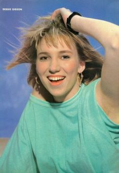 "DEBBIE GIBSON - 1990 magazine CLIPPING - PINUP - MINI POSTER (8""x11"")"