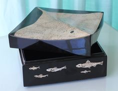 Stingray Box in Lacquer and Eggshell from Valerie Goodman Gallery   The Local Vault