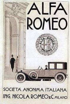 History of Vessels Travel Ads - US Lines - Cunard - White Star Vintage Italian Posters, Poster Vintage, Vintage Ads, Vintage Racing, Alfa Romeo Logo, Alfa Romeo Cars, Poster Ads, Car Posters, Alfa Alfa