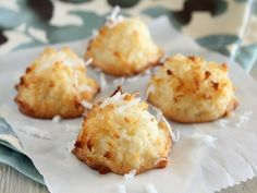 This recipe comes from one of my many Barefoot Contessa cookbooks. Ive tried many coconut macaroon recipes and this one is by far the best. For an extra special treat I have been known to dip the bottoms in bittersweet chocolate.