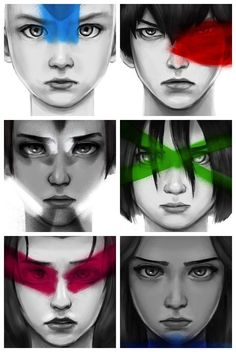 Explanation: Aang's Tattoo, Zuko's scar, Sokka's wolf helmet, Toph's blindness, Zuko's make-up and Katara's necklace Avatar Aang, Avatar Legend Of Aang, Avatar Funny, Team Avatar, Legend Of Korra, Zuko And Katara, The Last Avatar, Avatar The Last Airbender Art, Manga