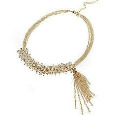 Ovish MUJERES Elegent Jardín perla collar de la borla - USD $ 4.99