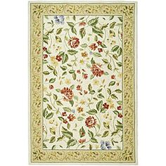 Hand-hooked Boni Ivory/ Beige Wool Rug (6' x 9')   Overstock.com Shopping - The Best Deals on 5x8 - 6x9 Rugs