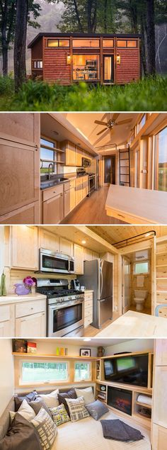 nice cool A 269 sq.ft. tiny house on wheels with cedar lap siding and steel accents. ... by http://www.top-100-home-decorpictures.website/tiny-homes/cool-a-269-sq-ft-tiny-house-on-wheels-with-cedar-lap-siding-and-steel-accents/