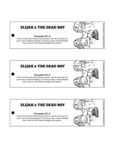 1 Kings 17 Elijah and the Widow Bible Bookmarks: The incredible story of Elijah and the widow is too good not to read again. Encourage your kids to read 1 Kings 17 on their own with these Elijah and the widow crafts.
