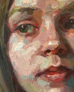 Portrait detail by Austin artist Jennifer Balkan Painting People, Figure Painting, Painting Art, Abstract Portrait Painting, Figurative Kunst, Oil Portrait, Portrait Paintings, Anatomy Art, Impressionist Paintings