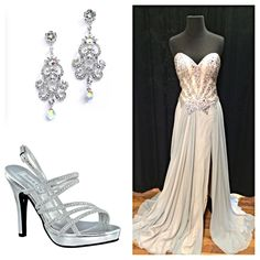 Regal and Romantic! We love this gown by Terani. In stock now @idealfashions ! #idealfashions #prom2015 #promdress #terani #prom2k15 #shoplocal #pretty #elegant #couture