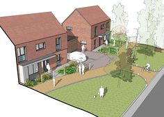 First major housing development at Whitehill and Bordon designed as an exemplar sustainable community. Architectural Presentation, Architectural Models, Architectural Drawings, Building Sketch, City Model, Urban Architecture, Affordable Housing, Master Plan, Urban Planning