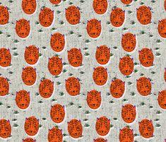 folka_tiger_eye fabric by holli_zollinger on Spoonflower - custom fabric
