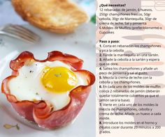"¿Te atreves con un ""cupcake"" de jamón y huevo? Receta de kenh14 #receta #Cupcake #Muffin"