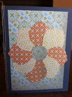 Card made with my scrap paper drawer!