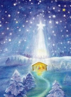 """Away in a manger, no crib for a bed, The little Lord Jesus lay down His sweet head. The stars in the bright sky looked down where He lay, The little Lord Jesus asleep on the hay""."