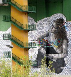 Urban art in Bilbao (Spain).