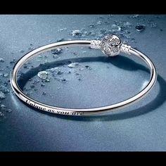 Pandora Snowflakes Bangle Unique As U Are Engraved
