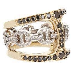 HOORSENBUHS  Gold & Diamond Icy Phantom Clique Ring