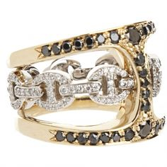 HOORSENBUHS  Gold & Diamond Icy Phantom Clique Ring