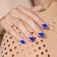 Artful and brazen, Baby Girl in electric cobalt is our sexiest mani to date.