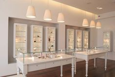 unique jewelry display cases - Google Search This jewelry stores interior design focuses museum type cases to display their jewelry