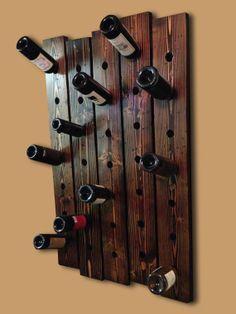 35 bottle rustic wine rack