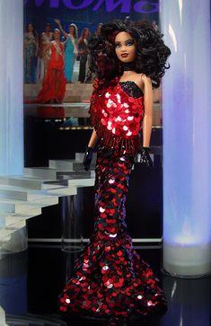 OOAK Barbie as Miss Trinidad & Tobago 2012