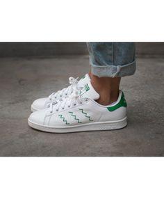 release date 2d343 e05ce Womens Adidas Stan Smith White Green Traniers Adidas Smith, Adidas Stan  Smith White, Cheap