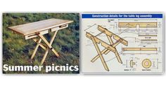 Folding Picnic Table Plans - Outdoor Furniture Plans and Projects   WoodArchivist.com