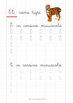 Schede di Pregrafismo delle Lettere dell'Alfabeto da Stampare | PianetaBambini.it Montessori, Alphabet, Homeschool, Diagram, Education, Words, David, Veronica, Gabriel