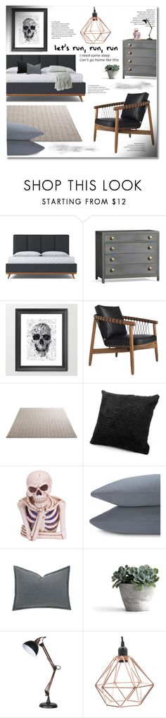 """""""here comes the night"""" by limass ❤ liked on Polyvore featuring interior, interiors, interior design, home, home decor, interior decorating, Pottery Barn, Design Within Reach, Melrose International and UGG"""