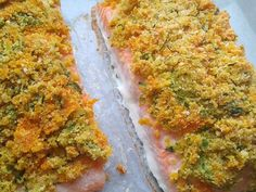 Chrumkavý losos - recept Fish Recipes, Quiche, Sushi, Food And Drink, Fish Food, Cooking, Breakfast, Fitness, Kitchen