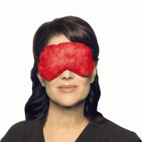 I've been sleeping with one of these masks on my face since probably middle school.  They really help with my migraines!